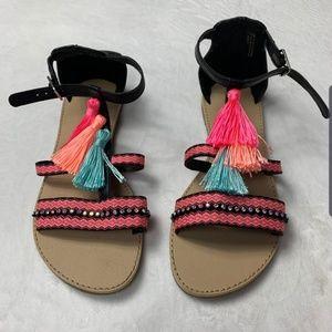 The Children's Place big girl tassel sandals.